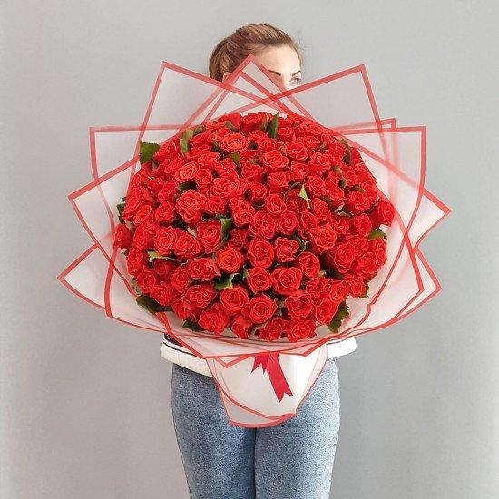 «101 роза Эльторо 45 см»