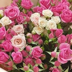 «19 кустовых роз»