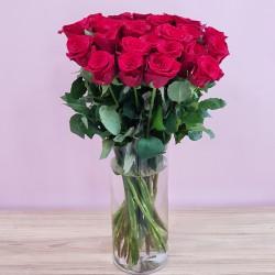 «25 роз в вазе»