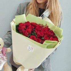 «27 красных роз 65 см»