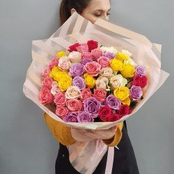 «51 роза 45 см микс»